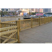 温州防腐木护栏