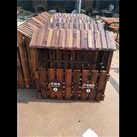 福州防腐木垃圾箱定制
