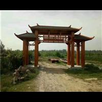 河池防腐木門頭廠家