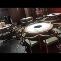 酒店自助食堂餐桌椅餐厅人造石餐桌深圳厂家定做