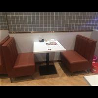 客家菜餐厅餐桌椅茶餐厅人造石餐桌快餐厅餐桌尺寸定做