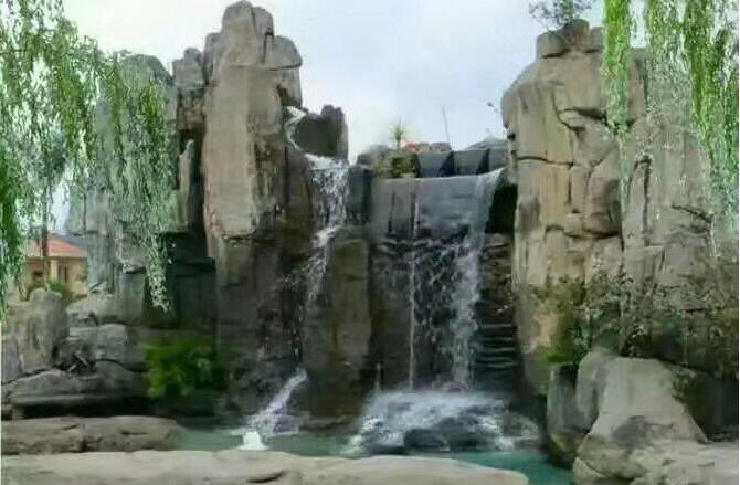 西安塑石假山施工h西安假山塑石施工