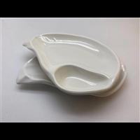 上海壹粤炒田螺米粉密胺餐具盘 仿瓷小吃盘餐具批发