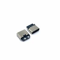 TYPEC2P焊线式母座简易款大电流快充母座