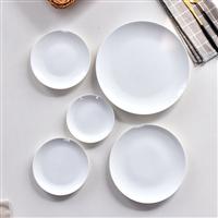 唐山奧美廠家批發陶瓷純白家用餐具盤套裝