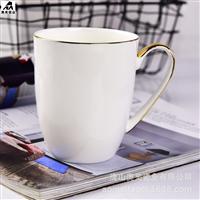 厂家批发骨质瓷水杯家用月光马克杯